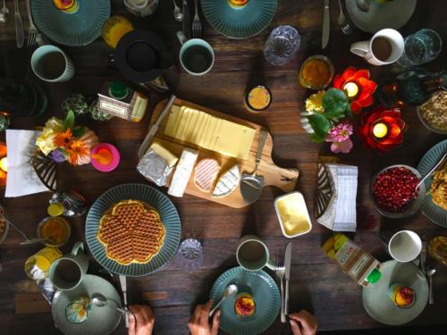 Yoga retreat breakfast